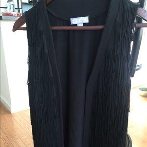 Vivienne Tam Black fringe vest